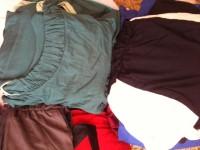 lote de 100 peças (vestidos, blusas, leggins e saias)