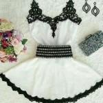 2015-new-arrival-fashion-women-a-line-Dress-slim-white-patchwork-spagheti-strap-dress-casual-o (1)