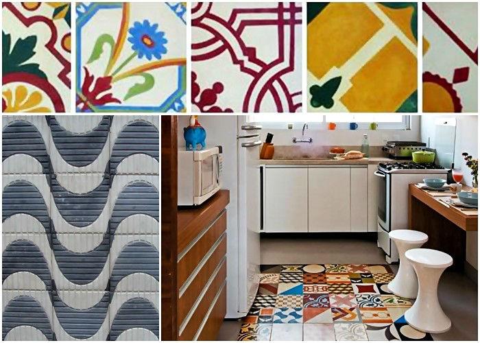 Adesivo de parede ou ch o azulejo hidr ulico for Pintura azulejos barata