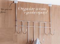 Organizador Cabide - Porta Gancho Cromado
