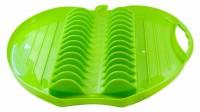 242011 escorredor de louças de plastico maça verde