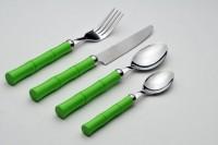 120014  Faqueiro 24 peças bambu verde