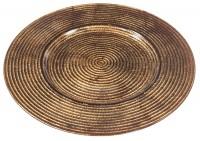 137001 Sousplat-de-Vidro-33cm-cor-Bronze