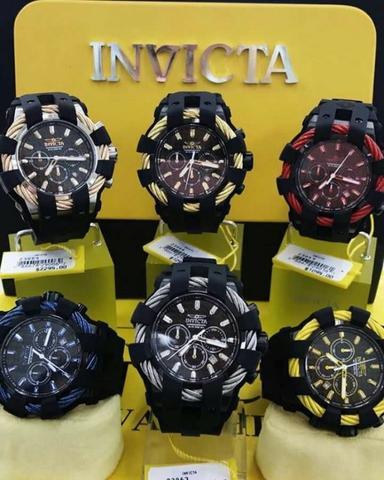 b58a95d4d3d Descrição da(s) Mercadoria(s) . Lote de 10 Relógios Invicta Bolt ...
