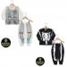 Pijama Robo e Pijama esqueleto brilha no escuro 100% algodão