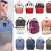 diversas cores com modelo lequeen mochila maternidade original menor